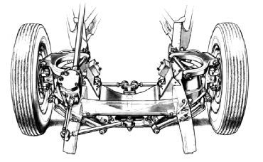 1950 Humber Hawk Front Suspension Cutaway